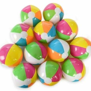 """Other - Inflatable Beach Balls 12"""" Neon Rainbow 12 Pack"""
